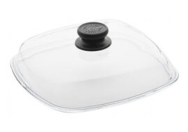 High dome square glass lid 26X26cm