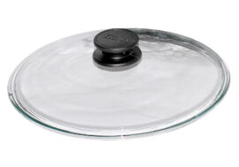 Low dome round glass lid Ø24cm