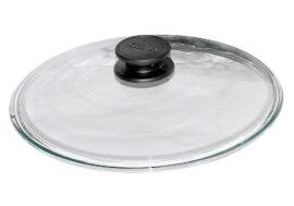 Стъклен капак кръгъл нисък Ø18см